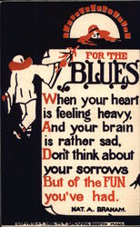For the Blues-Text with Man Reaching Out to Woman