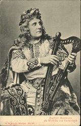 Baptist Hoffmann, als Wolfram von Eschenbach - Man is Special Apparel with Harp