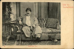 Turkish Man on Couch with Hookah