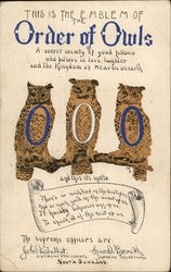 Emblem of Order of Owls - Three Owls