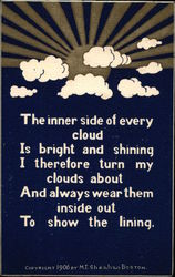 Inspirational Card with clouds and sunshine - Sheahan's Good Mottos
