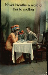 Couple at Table with Champagne