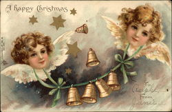 Angels with Wings and Bell Garland
