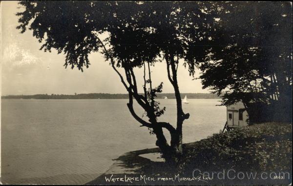 White Lake Mich. from Murray's Inn Whitehall Michigan
