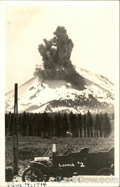 Lassen Peak Eruption, June 14, 1914 Lassen Volcanic National Park California