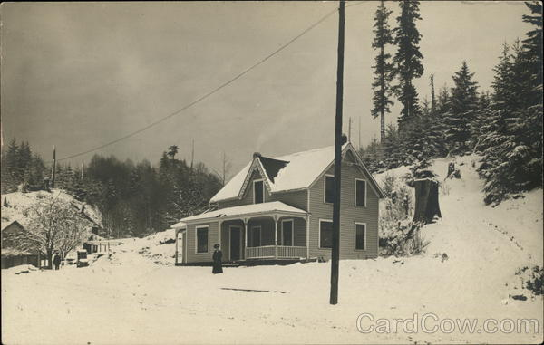 A House in a Snowstorm - Oregon? Landscapes