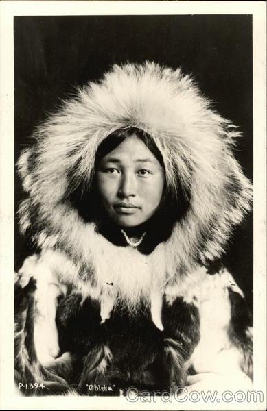 Alaskana nude eskimo postcards