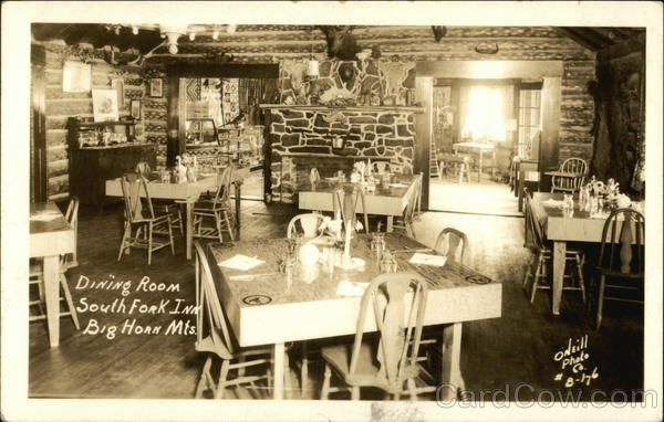 Dining Room, South Fork Inn, Big Horn Mountains Buffalo Wyoming