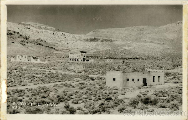 Abandoned Buildings in Desert Rhyolite Nevada