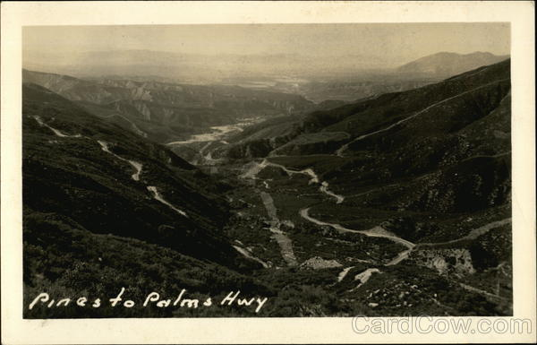 Aerial View Pines to Palms Highway California