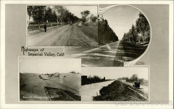 4 Highway Scenes of Imperial Valley California