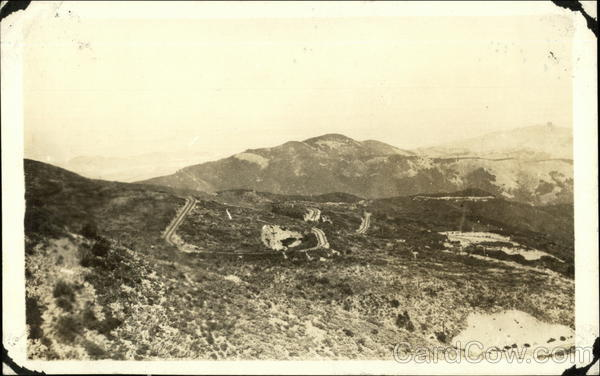 Roads on a Barren Hilltop Los Angeles California