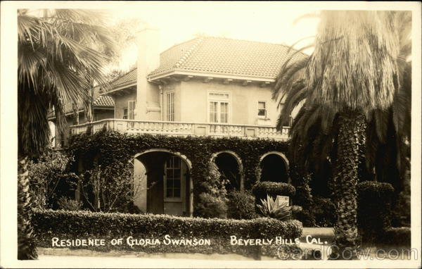 Residence of Gloria Swanson Beverly Hills California