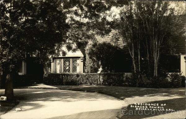 Residence of Eleanor Powell Beverly Hills California