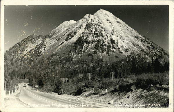Black Butte on Highway 99 in California