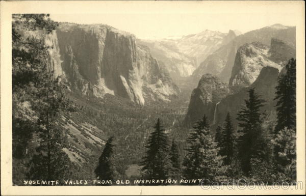 Yosemite Valley from Old Inspiration Point California