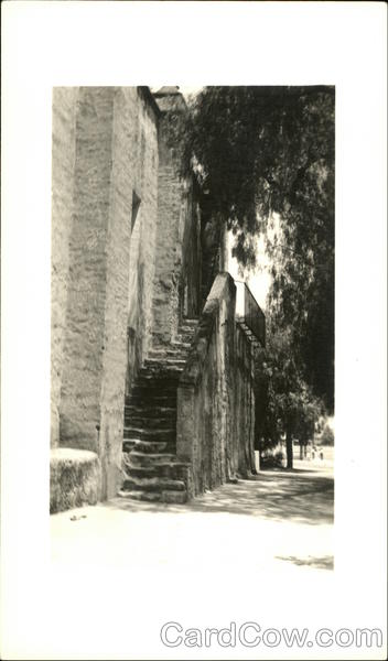 San Gabriel Archangel Mission, Stairway, From Street Los Angeles California
