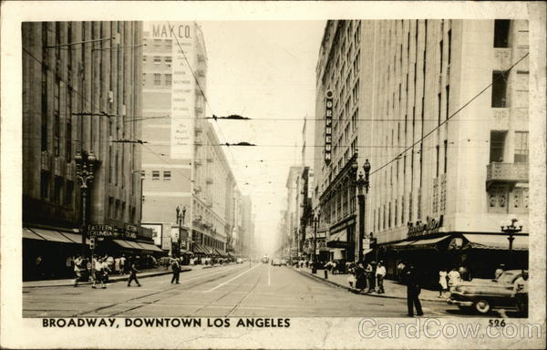 Broadway, Downtown Los Angeles California