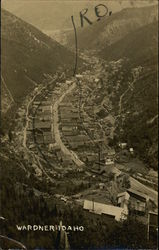 Birds Eye View of Town in Valley
