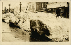 Snow Drifts in the Middle of Town