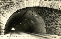 Bonneville Tunnel -- Columbia River Highway Postcard