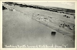 Flooded Town - Aerial View Looking North from Y
