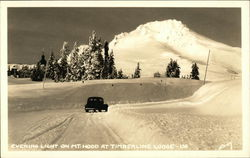Evening Light on Mt. Hood at Timberline Lodge - Winter