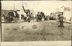 Hauling Wool from Prineville to Shaniko Postcard