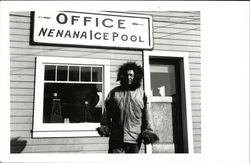 Office - Nenana Ice Pool Man Wearing Fur Lined Coat