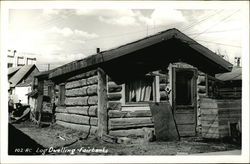 Log Dwelling Postcard