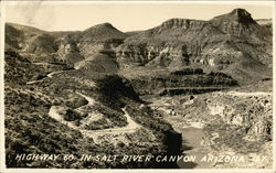 Highway 60 in Salt River Canyon