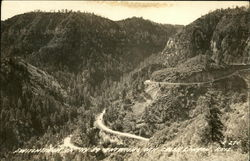 Switchback on Hwy. 89 entering Oak Creek Canyon