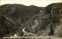 Switchback on Highway 89 entering Oak Creek Canyon
