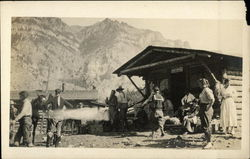 A Post Office in the Old West Postcard