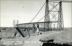 Suspension Bridge Over Little Colorado River