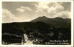 View of Town and Mt. Tamalpais in Distance Postcard