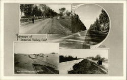 4 Highway Scenes of Imperial Valley