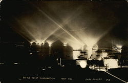Battle Fleet Illumination, Navy Day Postcard