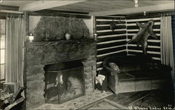 Lodge with a Fireplace