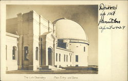 Lick Observatory - Main Entry and Dome