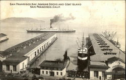San Francisco Bay, Marine Docks and Goat Island