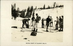 Skiing Party at Summit California
