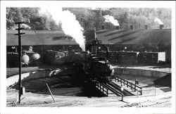 Locomotive on the roundhouse