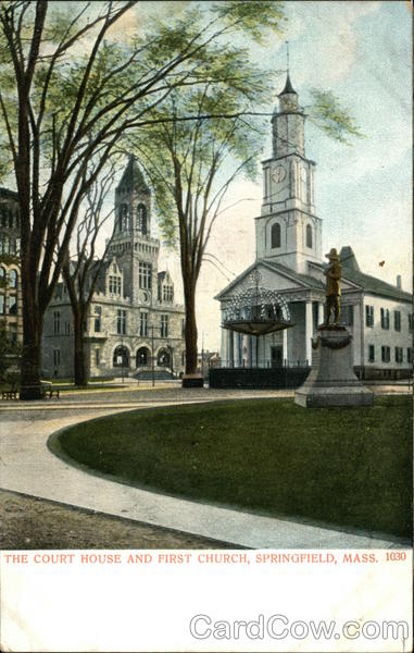 The Court House and First Church Springfield Massachusetts