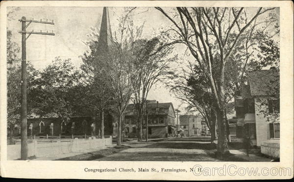 Congregational Church, Main St. Farmington New Hampshire