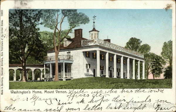 Washington's Home, Mount Vernon Alexandria Virginia
