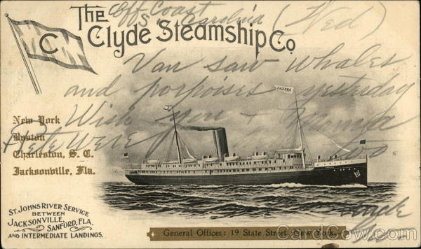 A Steamship of The Clyde Steamship Company Steamers