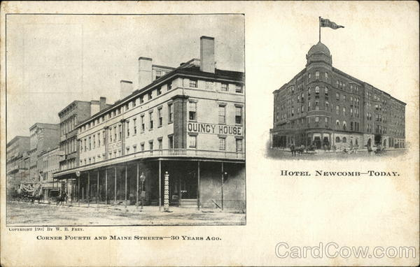Hotel Newcomb - Fourth and Maine Streets Quincy Illinois