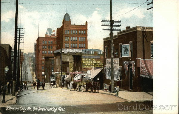 8th Street Looking West Kansas City Missouri