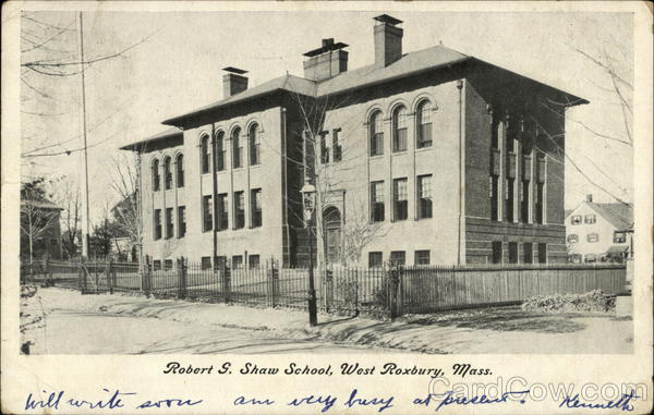 Robert G. Shaw School West Roxbury Massachusetts